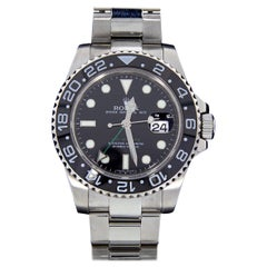 Rolex GMT Master II Stainless Steel Watch with Black Dial, Model 116710LN