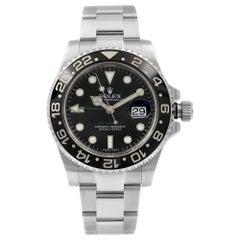 Rolex GMT-Master II Steel Black Dial Green Hand Automatic Men's Watch 116710LN