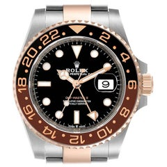 Rolex GMT Master II Steel Everose Gold Mens Watch 126711 Box Card