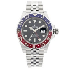 Rolex GMT-Master II Steel Two Tone Pepsi Bezel Automatic Men's Watch 126710BLRO