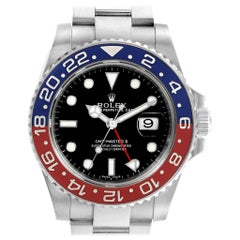 Rolex GMT Master II White Gold Pepsi Bezel Men's Watch 116719 Box