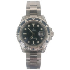 Rolex GMT Master II White Gold Sapphire and Diamond Ref 116759 Wristwatch