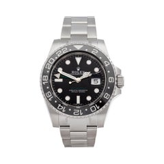 Rolex GMT Master II with Stickers Stainless Steel 116710LN Wristwatch