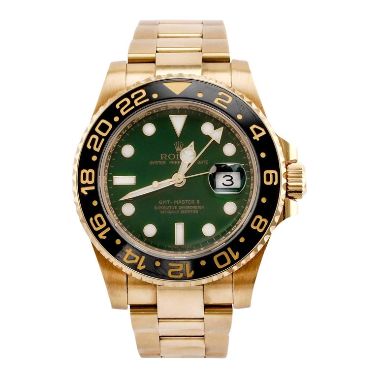 Rolex GMT Master II Yellow Gold '116718' For Sale
