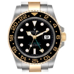 Rolex GMT Master II Yellow Gold Steel Automatic Men's Watch 116713