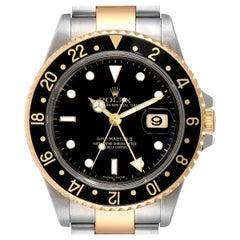 Rolex GMT Master II Yellow Gold Steel Jubilee Bracelet Men's Watch 16713