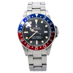 Rolex GMT-Master Pepsi 16750 6.1Million Serial Black Dial Automatic Watch