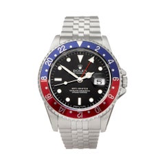 Rolex GMT Master Pepsi Stainless Steel 16700 Wrist Watch