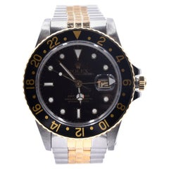 Rolex GMT Master Two-Tone Black Dial Watch Ref 16753