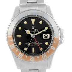 Rolex GMT Master Vintage Gilt Dial Pepsi Bezel Men's Watch 1675
