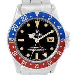 Rolex GMT Master Vintage Red and Blue Pepsi Bezel Men's Watch 1675