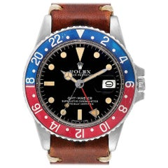 Rolex GMT Master Vintage Red and Blue Pepsi Bezel Men's Watch 1675 Papers