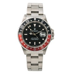 Rolex GMT Master 13800, Silver Dial Certified Authentic