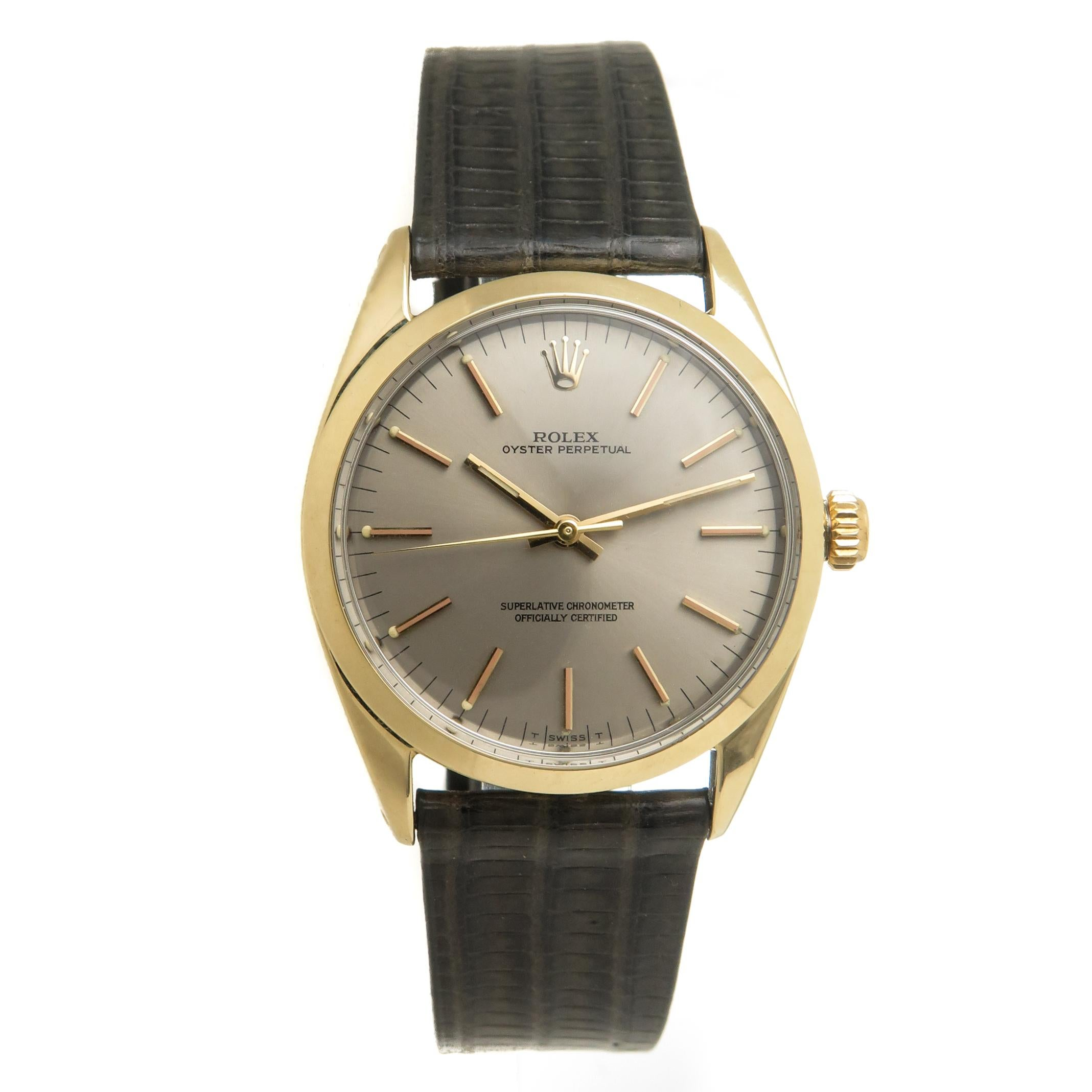 Rolex Gold Shell Self Winding Wristwatch Ref 1025, 1960s