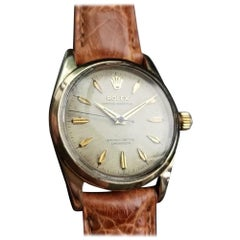 "Rolex ""Golden Egg"" Men's Vintage Gold-Capped Ref.6634 Automatic, c.1957 LV896TAN"