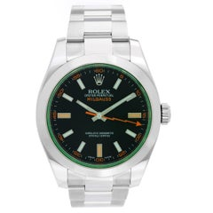 "Rolex ""Green"" Milgauss Stainless Steel Men's Watch 116400 V"