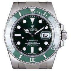 Rolex Hulk Submariner Date Stainless Steel Green Dial Ceramic Bezel B&P 116610LV