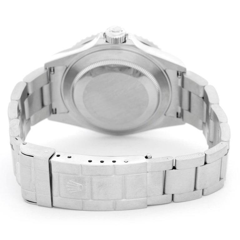 Rolex Kermit Submariner Men's Stainless Steel Watch 16610 In Excellent Condition For Sale In Dallas, TX