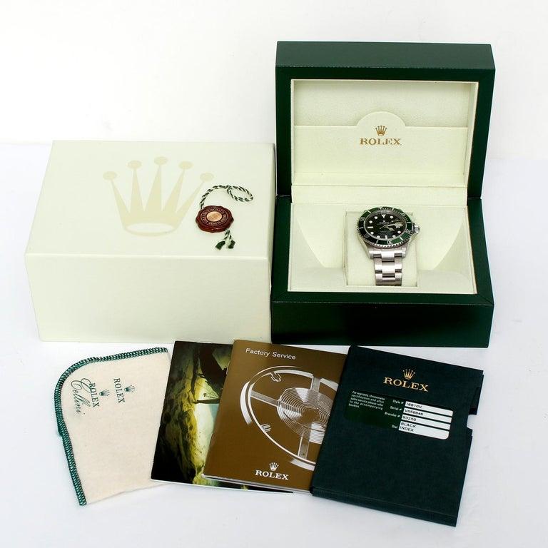 Rolex Kermit Submariner Men's Stainless Steel Watch 16610 For Sale 2