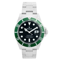 Rolex Kermit Submariner Men's Stainless Steel Watch 16610