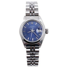 Rolex Ladies Date 6916 Blue Dial Stainless Steel