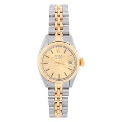 Rolex Ladies Datejust 2-Tone Steel & Gold Watch 6917