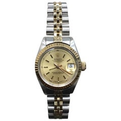 Rolex Ladies Datejust 6916 Champagne Dial 18 Karat Gold and Stainless Steel