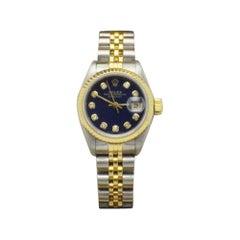 Rolex Ladies Datejust 69163 Diamond Dial 18 Karat Gold and Steel Box Booklet