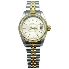 Rolex Ladies Datejust 69173 Excellent Condition 18K Yellow Gold Stainless Steel