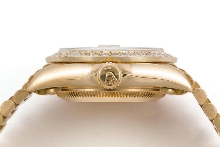 Women's or Men's Rolex Ladies Datejust President 18 Karat Yellow Gold and Diamond 69178 For Sale