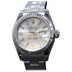 Rolex Ladies Datejust Stainless Steel 179174 Silver Dial 2014 Box and Papers