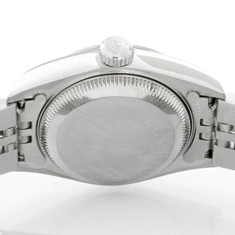 Rolex Ladies Datejust Stainless Steel Watch 79174 In Excellent Condition For Sale In Dallas, TX