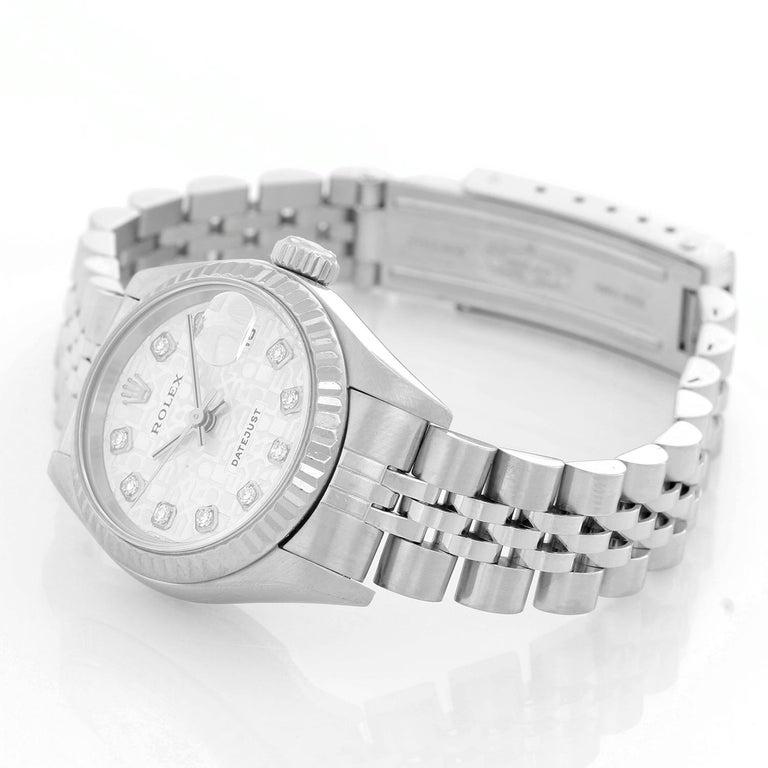 Women's Rolex Ladies Datejust Stainless Steel Watch 79174 For Sale