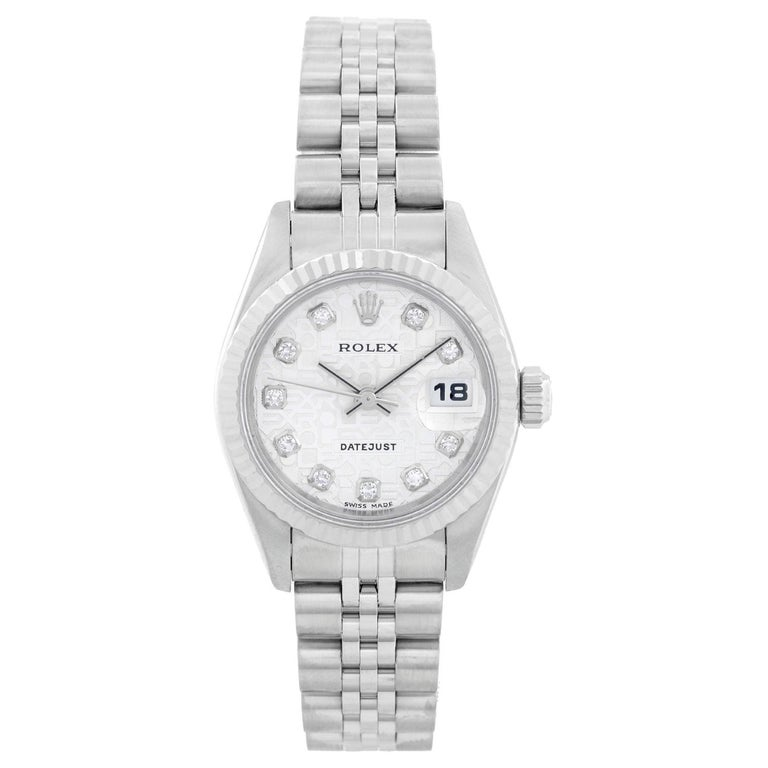 Rolex Ladies Datejust Stainless Steel Watch 79174 For Sale