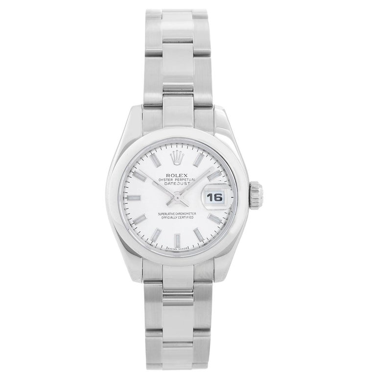 Rolex Ladies Datejust Watch Steel with Silver Dial 179160 For Sale