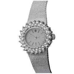 Rolex Ladies Full 18 Karat White Gold and Diamonds