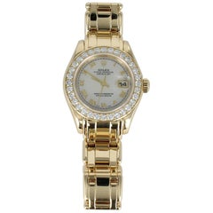 Rolex Ladies Masterpiece/Pearlmaster Gold Diamond Watch 69298 in 18 Karat