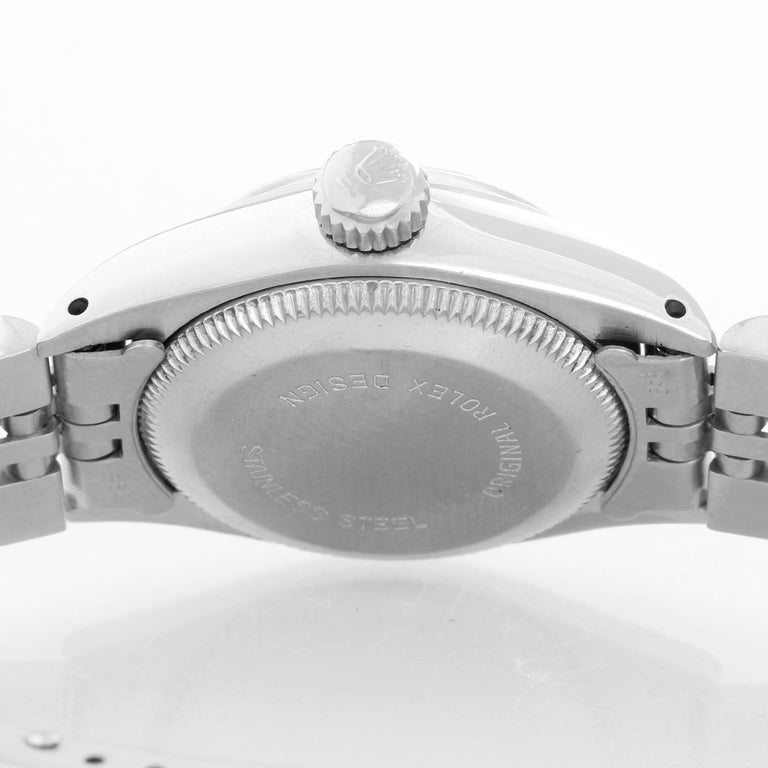 Women's Rolex Ladies Oyster Perpetual No-Date Stainless Steel Watch 6718 For Sale