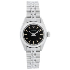 Rolex Ladies Oyster Perpetual No-Date Stainless Steel Watch 6718