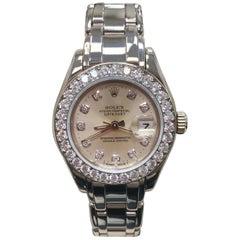 Rolex Ladies Pearlmaster 69299 Original Diamond Dial and Bezel 18 Karat Gold