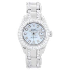 Rolex Ladies Pearlmaster White Gold and Diamond Watch 80319