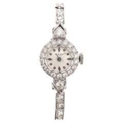 Rolex Ladies Platinum and French Cut Diamonds Bracelet Wristwatch