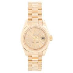 Rolex Ladies President 18 Karat Yellow Gold Watch 179178