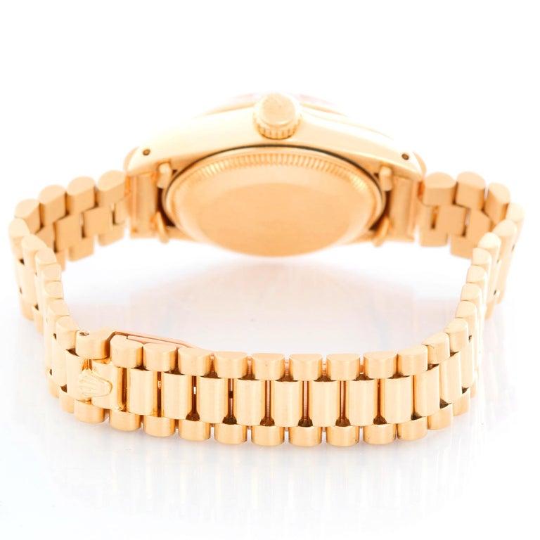 Rolex Ladies President 18k Yellow Gold 6917 Watch In Excellent Condition In Dallas, TX