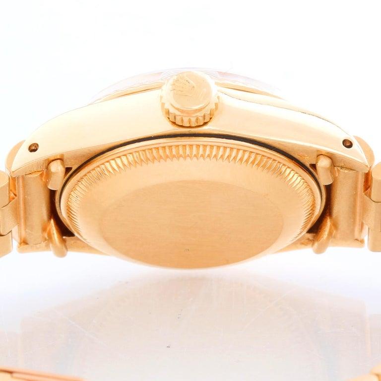 Women's or Men's Rolex Ladies President 18k Yellow Gold 6917 Watch