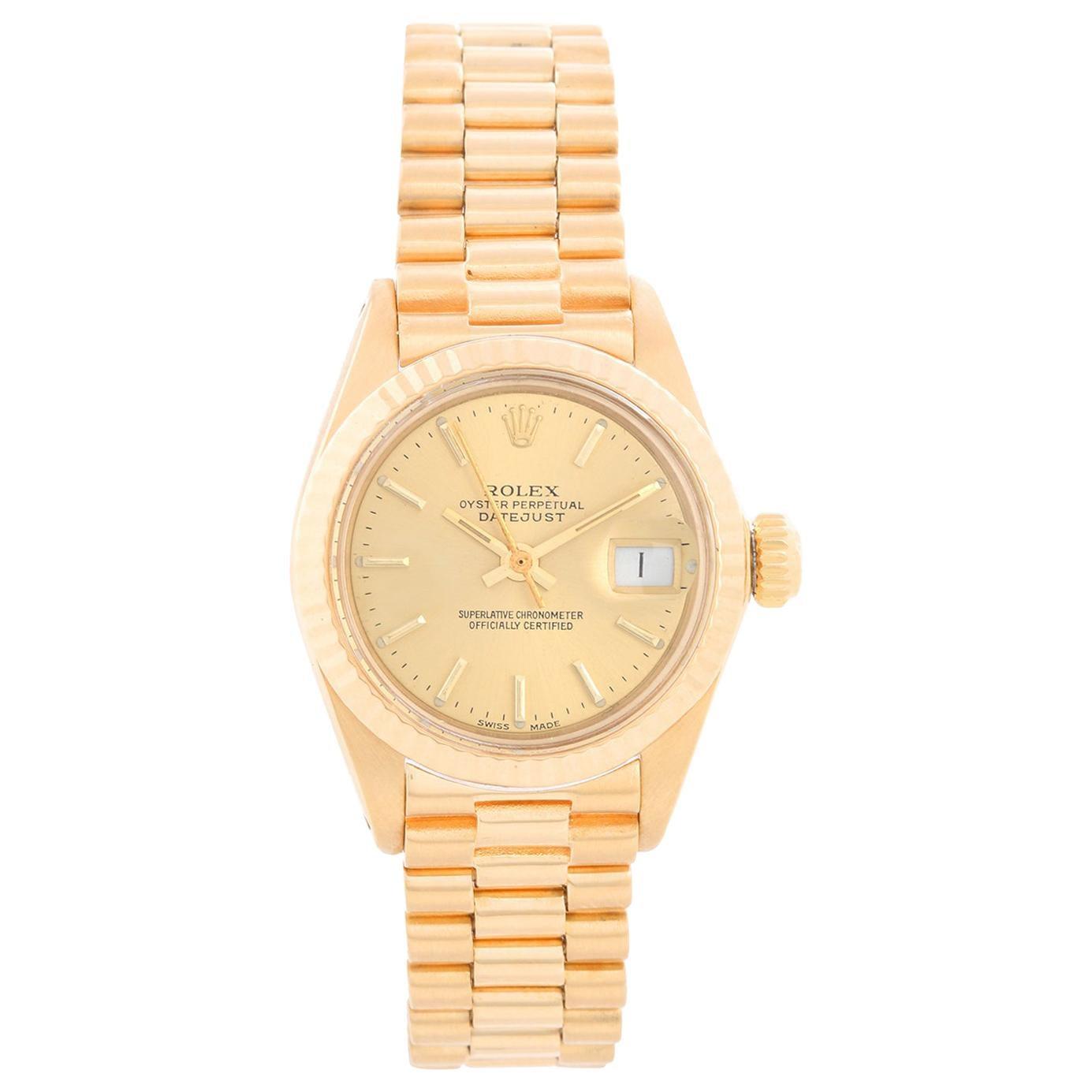 Rolex Ladies President 18k Yellow Gold 6917 Watch