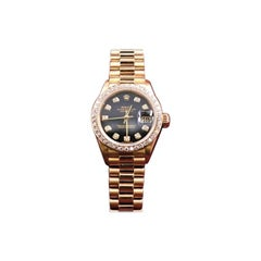 Rolex Ladies President 69138 Crown Collection Diamond Dial and Bezel Box Papers