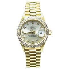 Rolex Ladies President 69138 Crown Collection Original Diamond Dial and Bezel