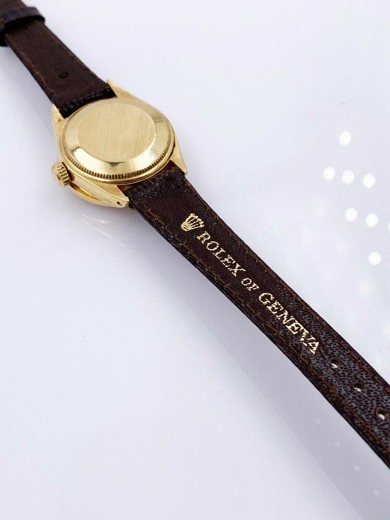 Women's Rolex Ladies President Datejust 6917 Diamond Bezel 18 Karat Yellow Gold For Sale