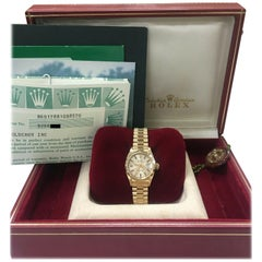 Rolex Ladies President Datejust 69178 18 Karat Gold Box and Papers Mint